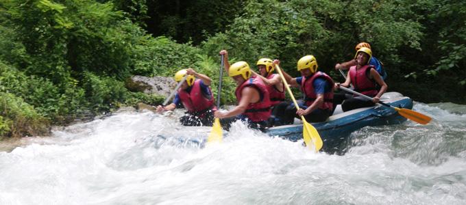 Rafting in Umbria nei Sibillini con Gaia
