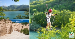 Adventure routes Fiastra Lake